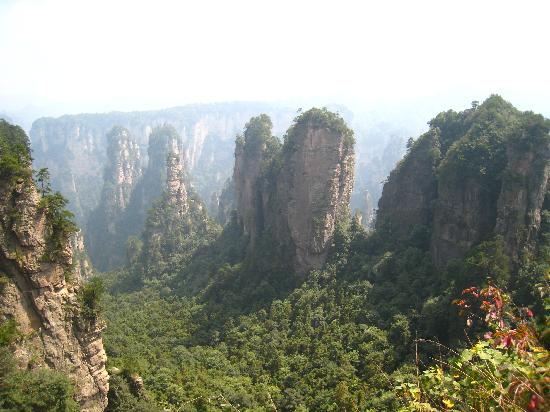 Wulingyuan Scenic and Historic Interest Area of Zhangjiajie: Fantastic scenery from up in the village