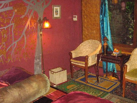 Matahari Cottage Bed and Breakfast: Indus room at Matahari B&B in Ubud Bali