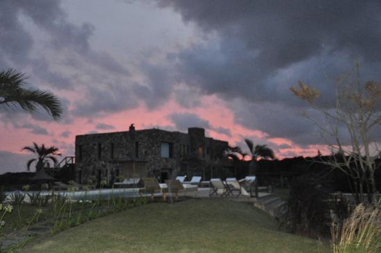 Casa Suaya: Adolfo's home at sunset