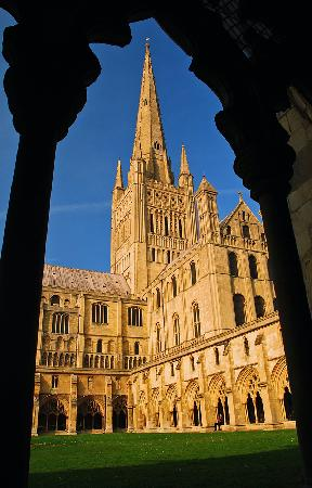 Norwich Cathedral - Well worth a visit.  The best to access it is along the Riverside Walk