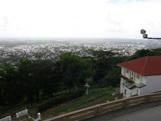 Mount St. Benedict Monastery: Views of Tunapuna on a hazy day from St. Benedict's