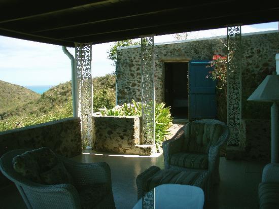Guana Island: Terrace of Fallen Jerusalem (our room)