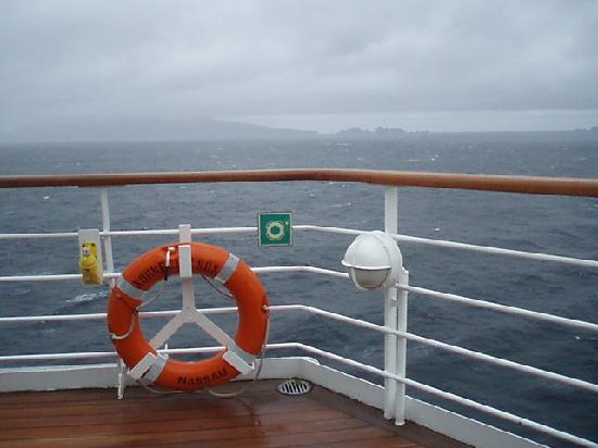 Cape Horn: View the crossing from ship deck.