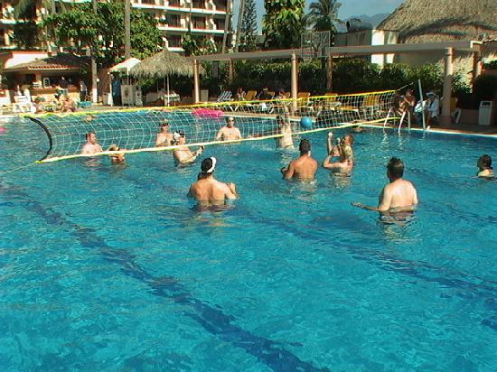 Crown Paradise Golden Resort Puerto Vallarta Volleyball In The Pool