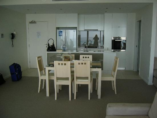 Ultra Broadbeach: Dining table/kitchen