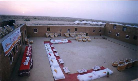 Rajasthan Desert Safari Camp Pvt. Ltd.: courtyard