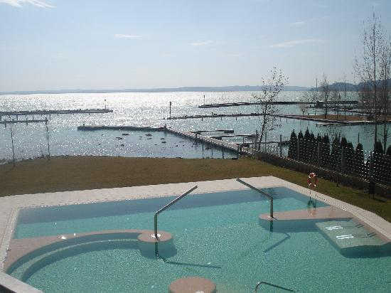 Balatonfured, Hungary: view from room