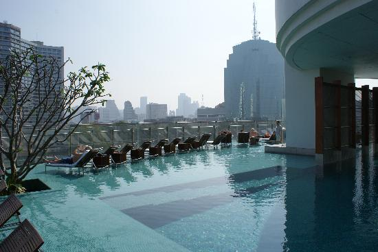 Millennium Hilton Bangkok View From The Hotel Pool Beach