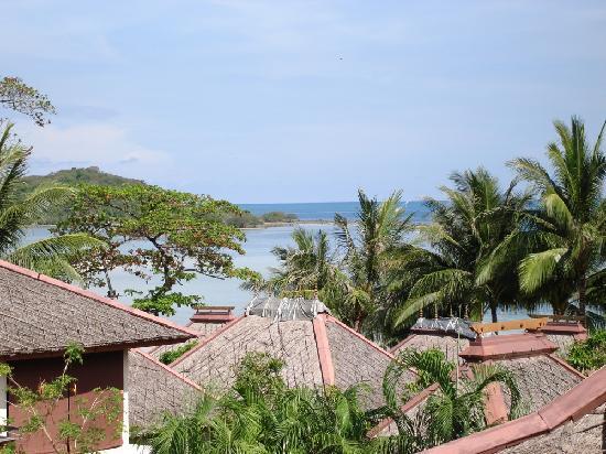 The Briza Beach Resort Samui: Aussicht von unserem Balkon