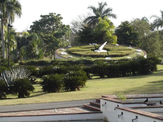 Santo Domingo, Repubblica Dominicana: Natural clock at Botanical Gardens.