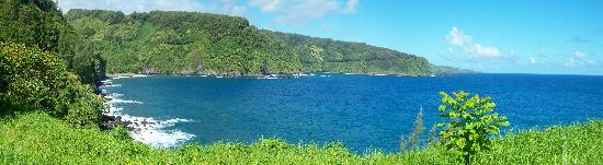 Camp Olowalu: The view at Camp Kaenae  off the road to Hana