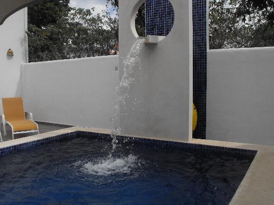 Villa Escondida Bed and Breakfast: pool fountain