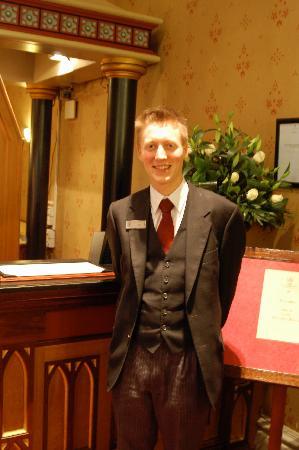 Macdonald Randolph Hotel: Ben, our favorite concierge.