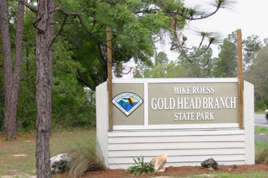 Gold Head Branch State Park: Entrance sign