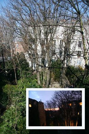 Hotel Particulier Montmartre : views from the room, day and night.