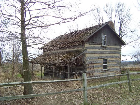 Allen's Log Cabin Guest House: This was our wonderful cabin so rustic and so much history