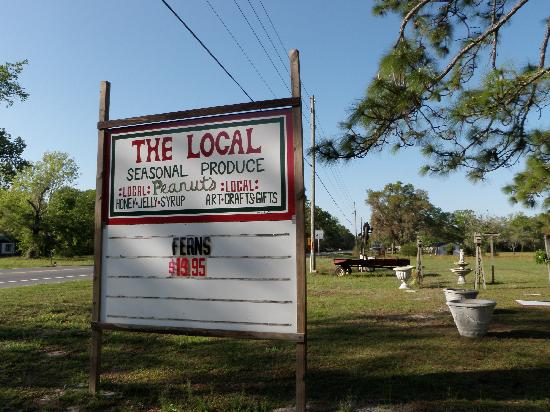 Crawfordville, FL: Sign from US 98