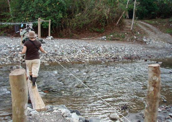 crossing the river to Bosque del Rio Tigre