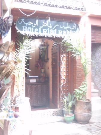 Riad Rahba Marrakech : The entrance