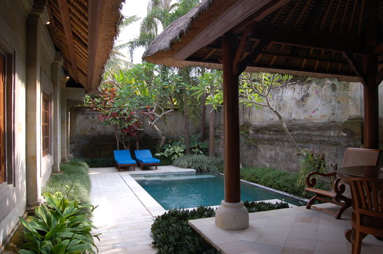 Samhita Garden: Private pool of villa
