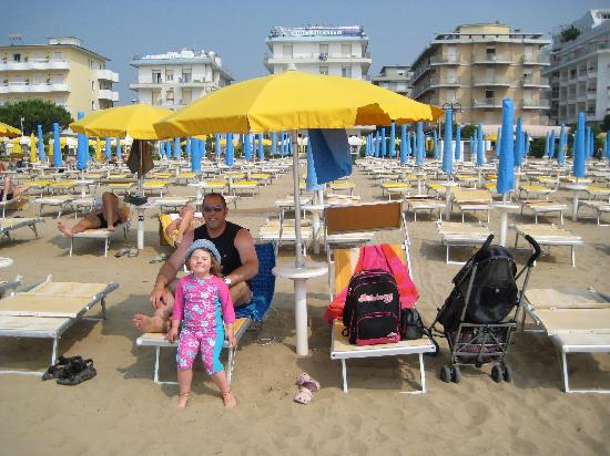 Villa Veneta: Front row chairs at the beach