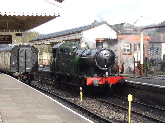 Steam Train at Llangollen Train Station,Llangollen,N.Wales.