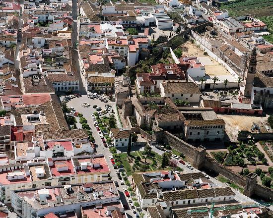 Palma Del Rio, İspanya: Vista Aérea del recinto del Palacio de Portocarrero