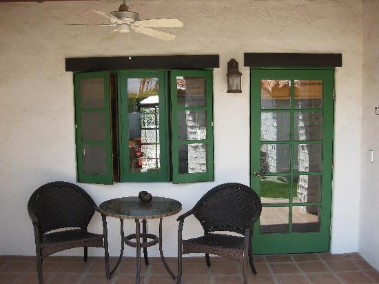 Casa Ocotillo: Patio/Entrance to Brass Balls Room