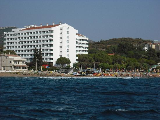 Grand Efe Hotel: view from the sea