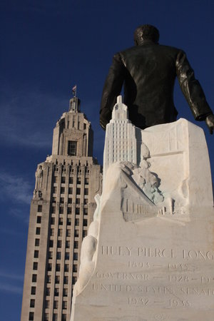 Baton Rouge, LA: view of the capitol from huey long's memorial