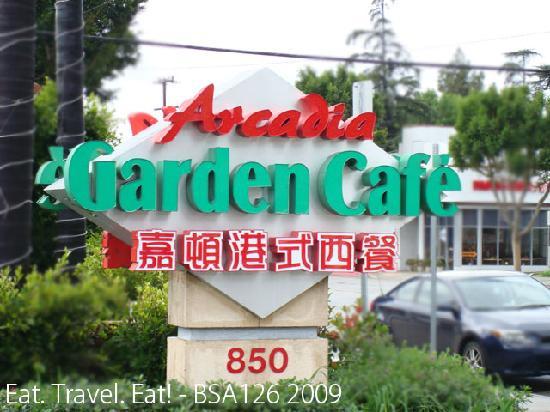 Arcadia Garden Cafe: Signage