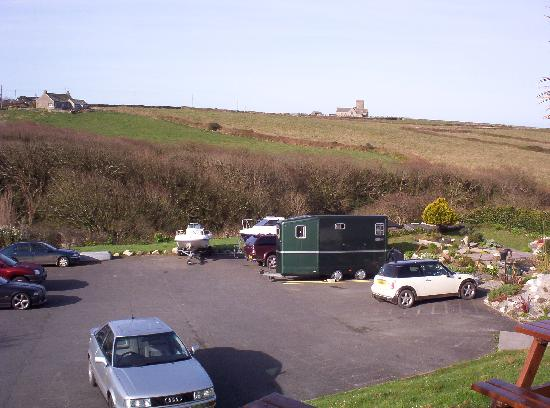 The Wootons Country Hotel: Car Park and views