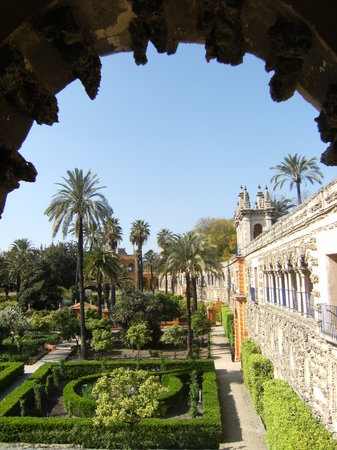 Seville, Spanyol: Gardens in the Alcazar