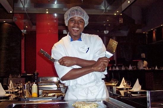 Iberostar Grand Hotel Rose Hall: Shawn-our cook at the Japanese restaurant