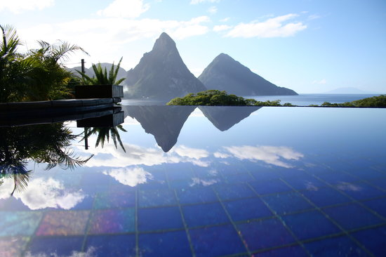 Jade Mountain Resort: The money shot.