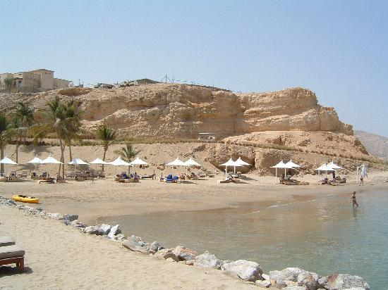 Shangri-La Al Husn Resort & Spa : private beach showing building works