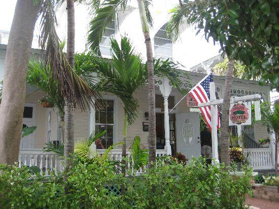 The Palms Hotel- Key West: front porch with swinging seat