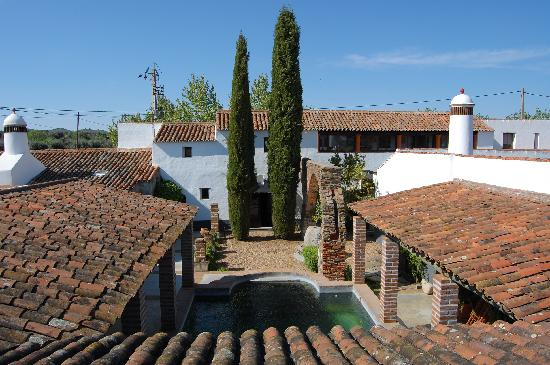Monte Saraz: View from the roof terrace to the house