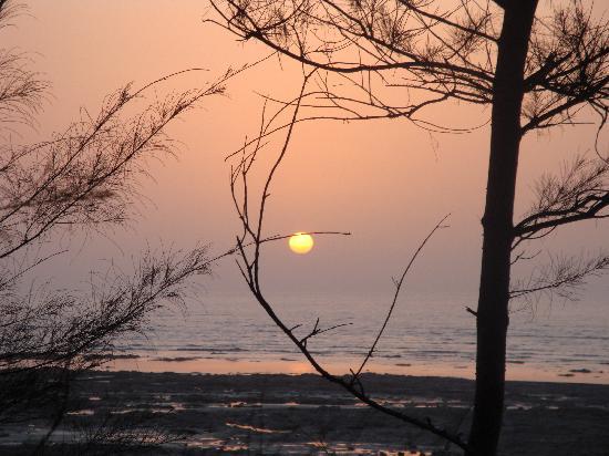 Daman and Diu, Indien: Sunset @ Arabian Sea Daman
