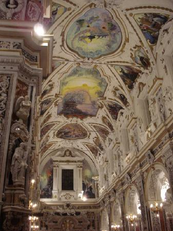Chiesa del Gesu: Casa Professa - il soffitto affrescato