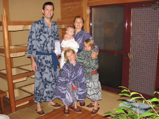 Shimaya Ryokan: Us at the onsen