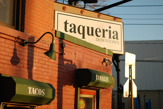 Taqueria Downtown : that's a shot of the place from the street, i found online.