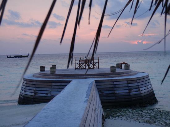 Baros Maldives: cena romántica