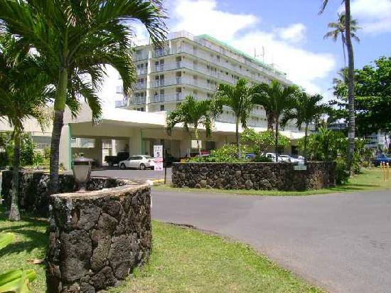 Pat's at Punalu'u : View of the complex entrance way off Kam Hwy