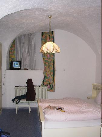Pension Rößner: My cave room!