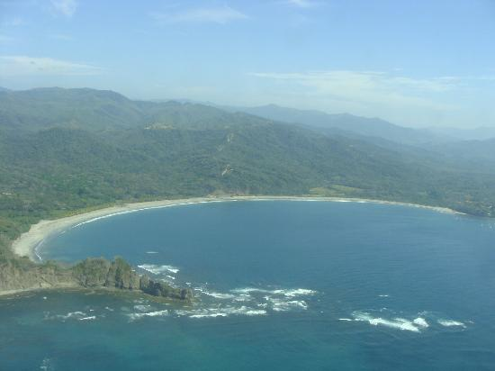 Playa Carrillo, Kostaryka: Carillo beach from above