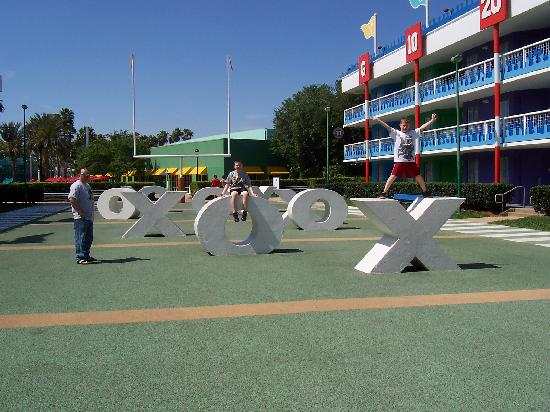 Disney's All-Star Sports Resort: Football field that the kids could play on