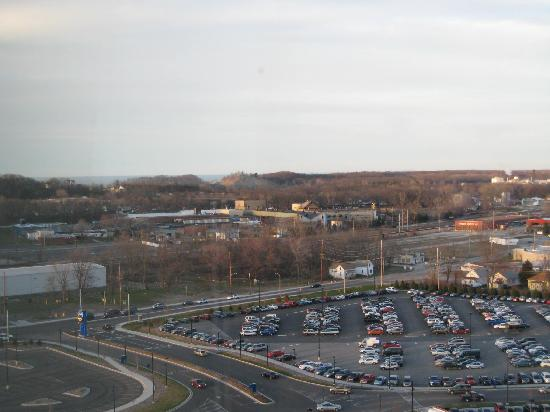 Blue Chip Casino Hotel Spa: Parking lot view