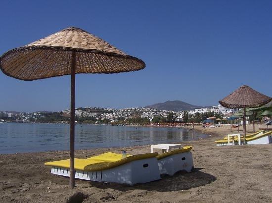 Gumbet, Turquie : plage de Gûmbet