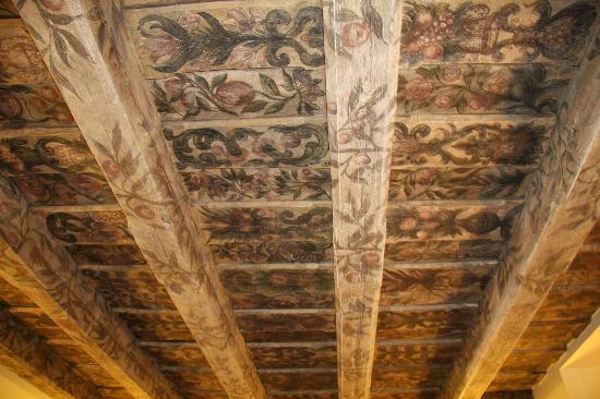 Grand Hotel Praha: Le plafond du hall